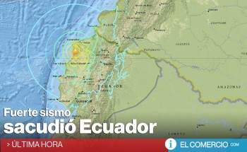 Un seísmo de 7.8 grados y varias réplicas sacuden a Ecuador .
