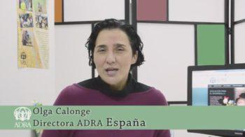 Agradecimiento de Olga Calonge, directora de ADRA España, a los voluntarios/as.