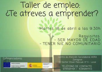 Taller sobre emprendimiento en ADRA Zaragoza