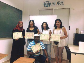 Graduación del curso de atención a personas mayores en Sagunto