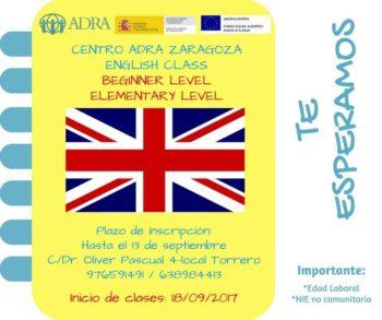 Clases de inglés en el Centro de Adra Zaragoza